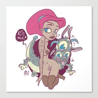 Babes&Monsters Canvas Print