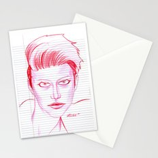 Fashion Hair with Loose Leaf Flair Stationery Cards