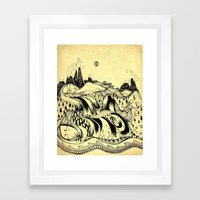 Sleeping Mountains Framed Art Print