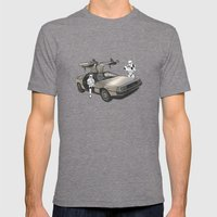 Lost, searching for the DeathStarr _ 2 Stormtrooopers in a DeLorean  Mens Fitted Tee Tri-Grey SMALL