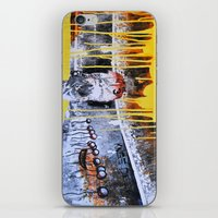 Mixed Media Art Yellow Rain iPhone & iPod Skin
