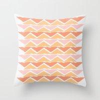 triangle sunset Throw Pillow