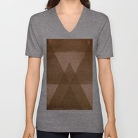 Distressed Triangles Unisex V-Neck