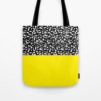 Memphis Black and Yellow 80s Tote Bag