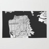 San Francisco Map Gray Rug