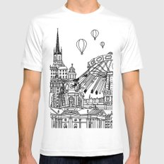 STHLM Silhouettes II Mens Fitted Tee SMALL White