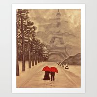 Paris In Winter Art Print