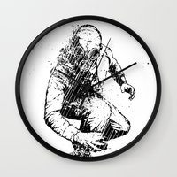 Trouble Will Find You, Always (Black/White Version) Wall Clock