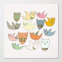 Owlz Canvas Print