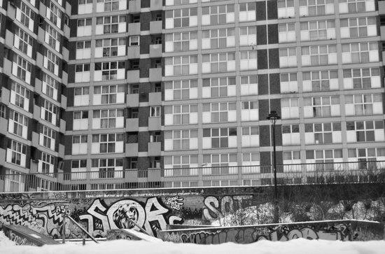 Brussels looking like east Berlin Art Print