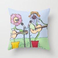 Woodstock Garden Throw Pillow