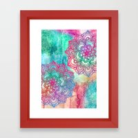 Round & Round the Rainbow Framed Art Print