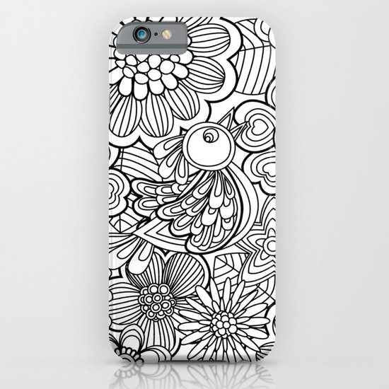 Welcome birds to..white. iPhone & iPod Case