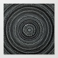 Lines invert. Canvas Print