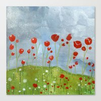 my dreams are only wishes // poppyfields Canvas Print