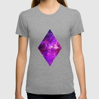Galaxy Womens Fitted Tee Tri-Grey SMALL