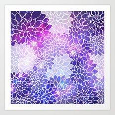 Space Dahlias  Art Print