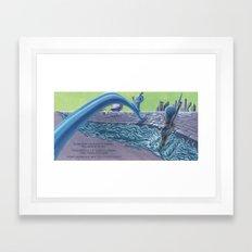 POEM OF FLOOD Framed Art Print