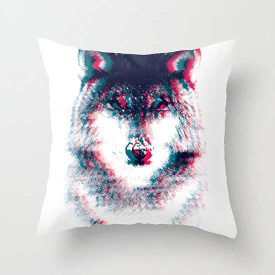 Act like a wolf.  Throw Pillow