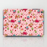 Red Christmas Pattern iPad Case