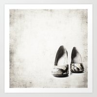 shoes Art Prints featuring shoes by Ingrid Beddoes