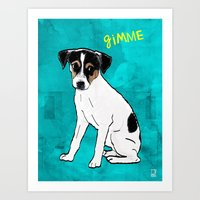 Dog Rat Terrier Art Print
