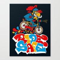 Ride Safe Canvas Print