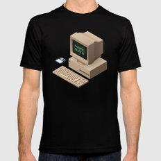 GAME OVER SMALL Mens Fitted Tee Black