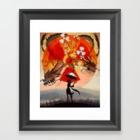 Umbrellaliensunshine: At… Framed Art Print