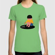 Peace Please Womens Fitted Tee Grass MEDIUM