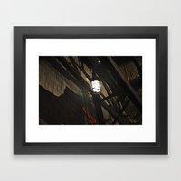 Black and light Framed Art Print