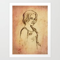 Katniss - Portrait Art Print
