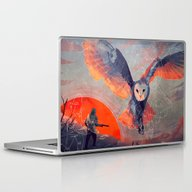 Laptop & iPad Skin featuring Owl Hunt by Micaela Dawn