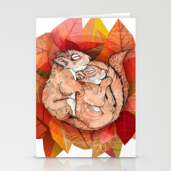 Squirrel Spoon Stationery Card