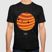 Mars Mens Fitted Tee Tri-Black SMALL