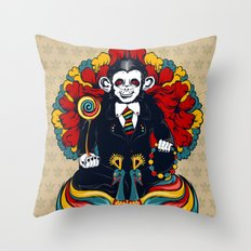 Buddha Monkey Throw Pillow