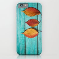 iPhone & iPod Case featuring Three Leaves by Debbie Wibowo