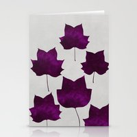 Mapleleaf Purple Stationery Cards