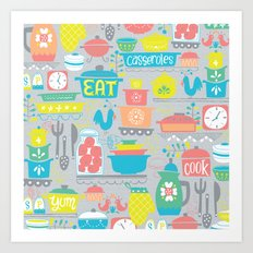 atomic kitchen Art Print