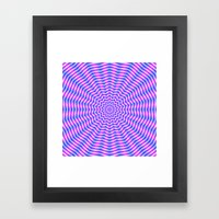 Hypnotic Star Ripples In… Framed Art Print