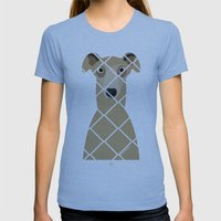 Greyhound (Galgo Ingles) Womens Fitted Tee Athletic Blue SMALL