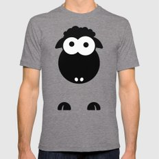 Minimal Sheep Mens Fitted Tee Tri-Grey SMALL