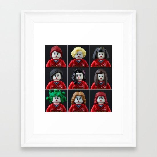 Personalities of a Geisha Framed Art Print