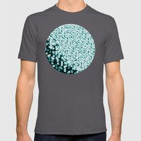 Glowing Green Circle Mens Fitted Tee Asphalt SMALL