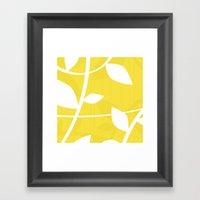 Vine in Yellow by Friztin Framed Art Print
