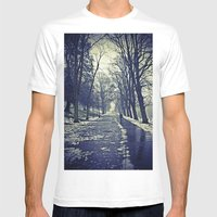 A walk through the park I Mens Fitted Tee White SMALL