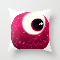 Red Dot Eye Throw Pillow