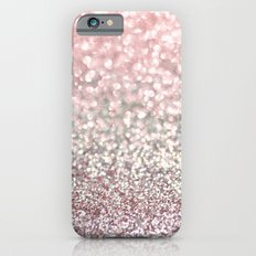 Girly Pink Snowfall iPhone 6 Slim Case