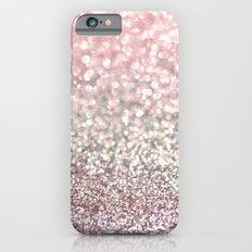 Girly Pink Snowfall iPhone 6 Slim Case