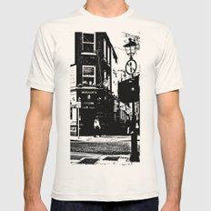 Beat on the Street Mens Fitted Tee Natural SMALL